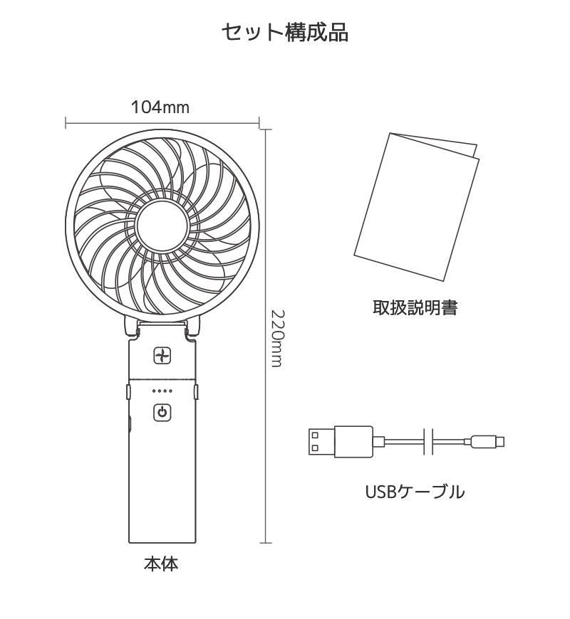 セット構成品 本体 取扱説明書 USBケーブル