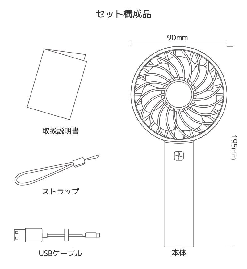セット構成 本体 取り扱い説明書 ストラップ USBケーブル