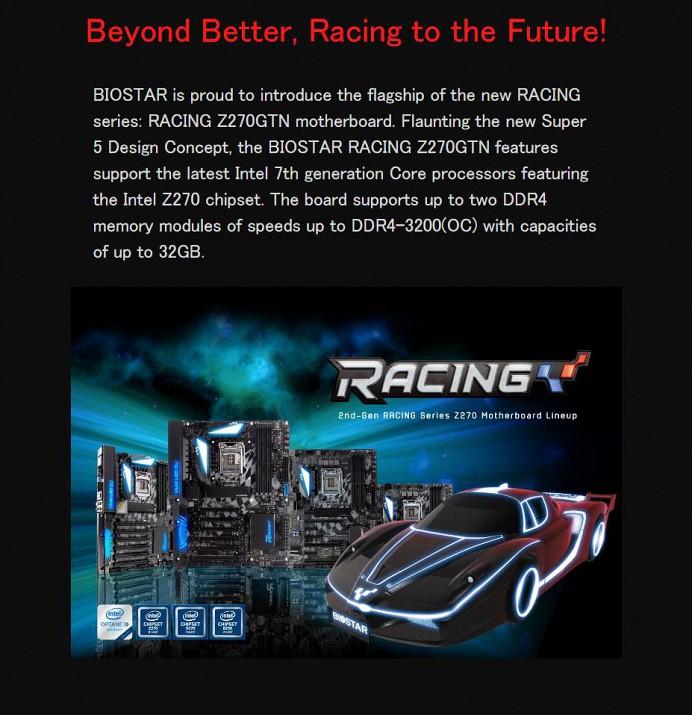 RACING Z270GTN|BIOSTAR|株式会社aiuto PCパーツ・周辺機器