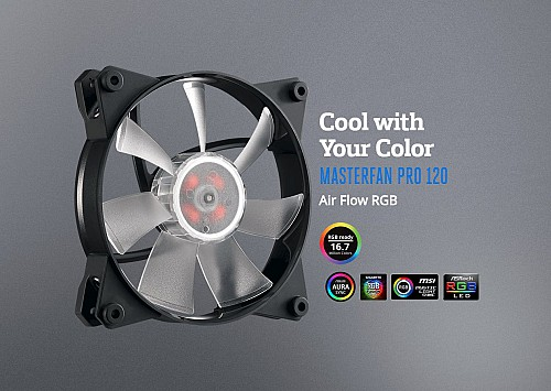Cool with Your ColorMASTERFAN PRO 120Air Flow RGB