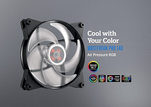 Cool with Your ColorMASTERFAN PRO 140Air Pressure RGB