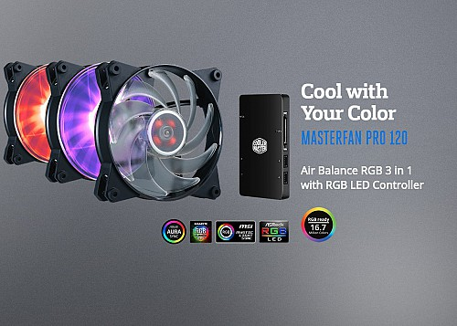 Cool with Your ColorMASTERFAN PRO 120Air Balance RGB 3 in 1 with RGB LED Controller
