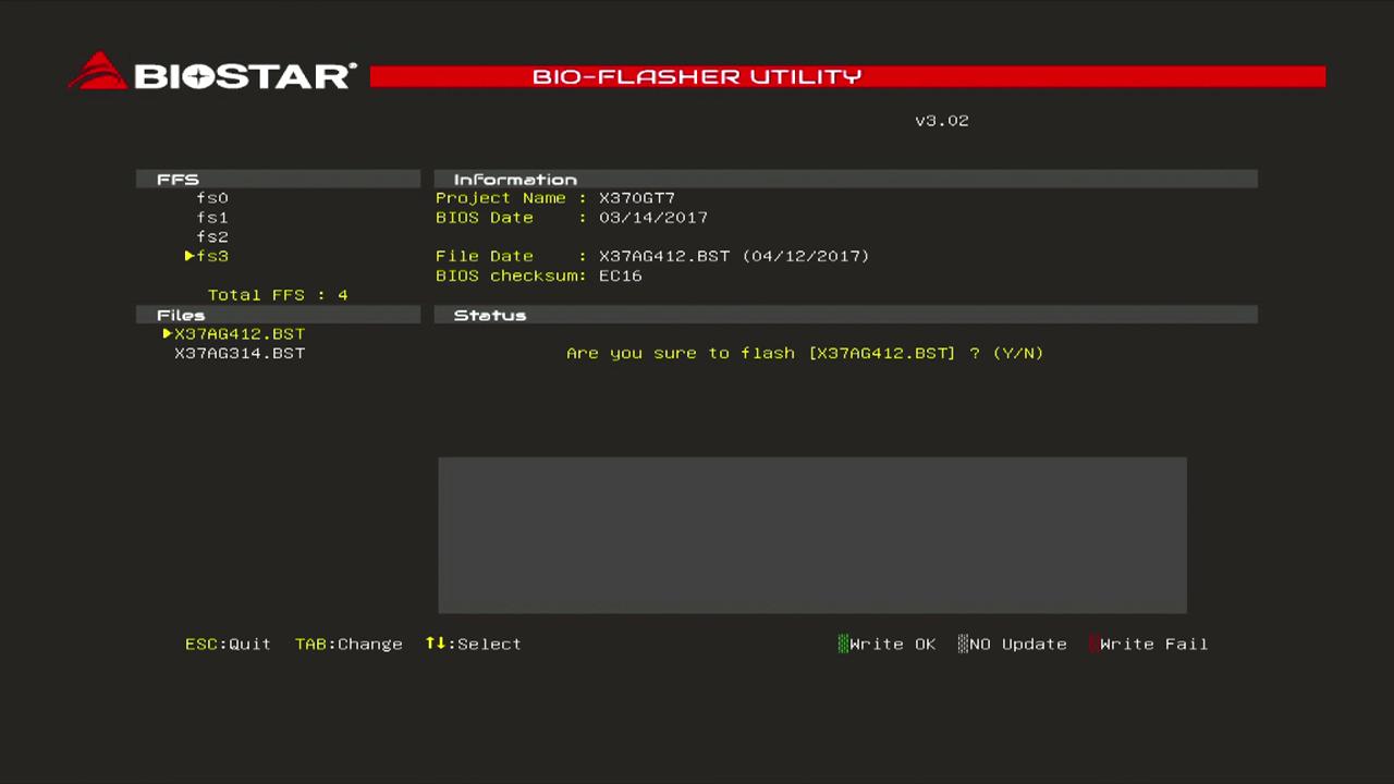 BIOSTARマザーボード BIOS更新方法|BIOSTAR|株式会社aiuto PC